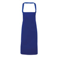 Royal - Front - Premier Ladies-Womens Apron (no Pocket) - Workwear (Pack of 2)