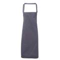 Steel - Front - Premier Ladies-Womens Apron (no Pocket) - Workwear (Pack of 2)