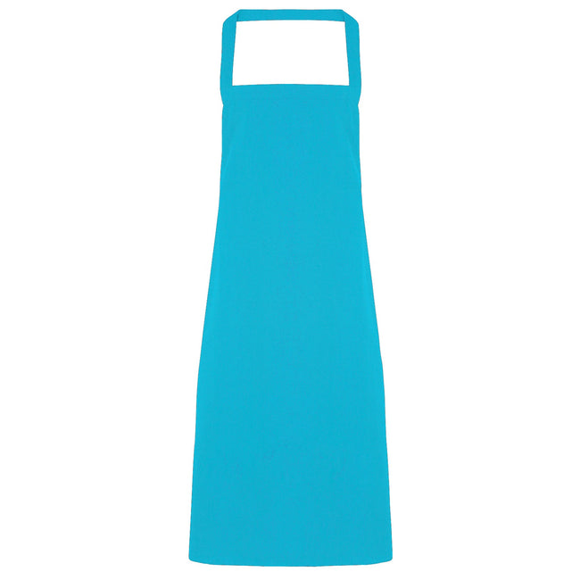 Turquoise - Front - Premier Ladies-Womens Apron (no Pocket) - Workwear (Pack of 2)