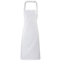 White - Front - Premier Ladies-Womens Apron (no Pocket) - Workwear (Pack of 2)