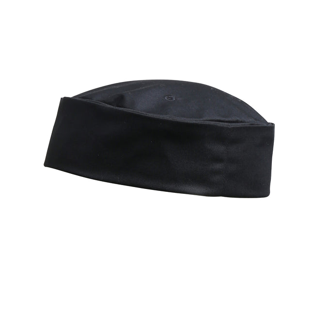 Black - Front - Premier Turn-Up Chefs Hat (Pack of 2)