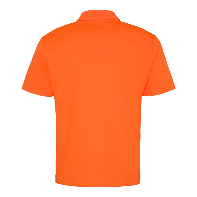 Electric Orange - Back - Just Cool Mens Plain Sports Polo Shirt