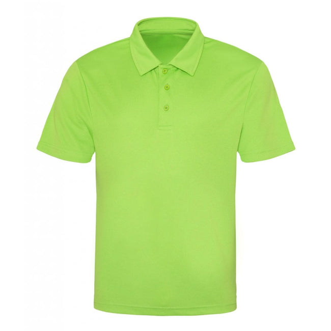 Electric Green - Back - Just Cool Mens Plain Sports Polo Shirt