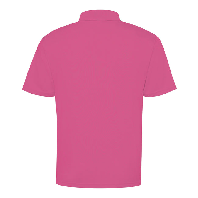 Fire Red - Back - Just Cool Mens Plain Sports Polo Shirt