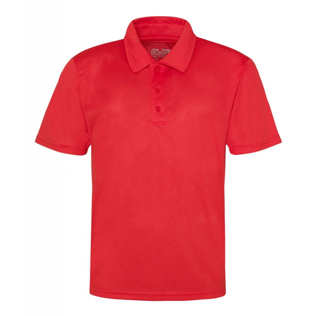 Gold - Front - Just Cool Mens Plain Sports Polo Shirt