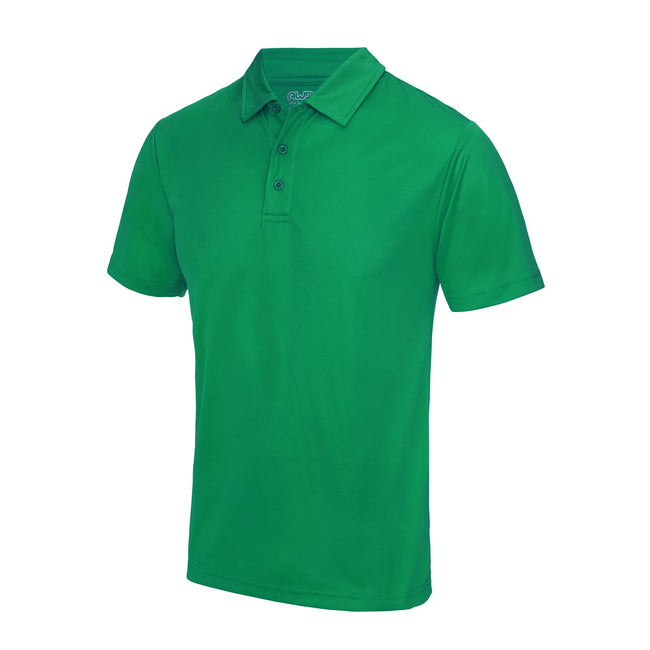 Lime Green - Front - Just Cool Mens Plain Sports Polo Shirt