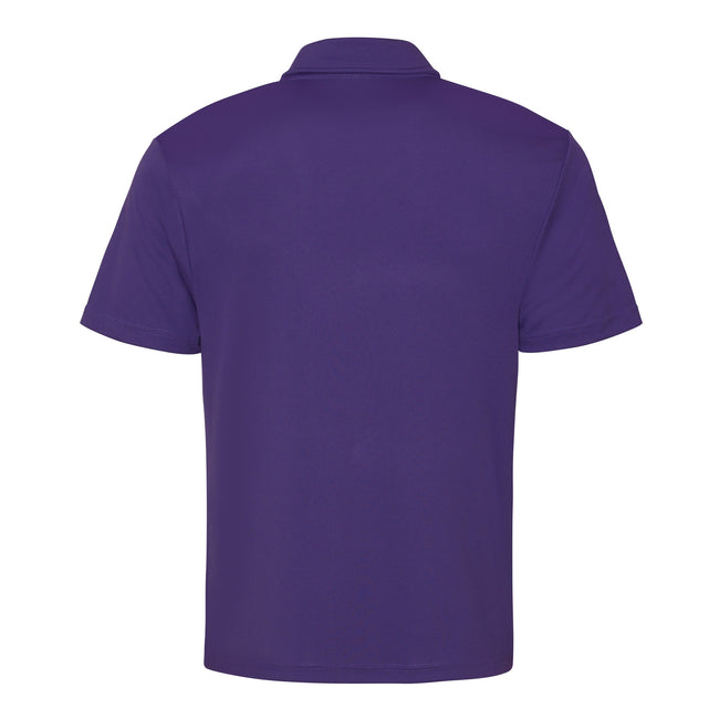 Turquoise Blue - Front - Just Cool Mens Plain Sports Polo Shirt