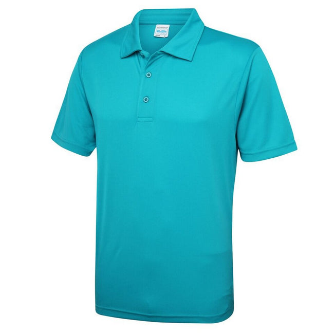 Lime Green - Side - Just Cool Mens Plain Sports Polo Shirt