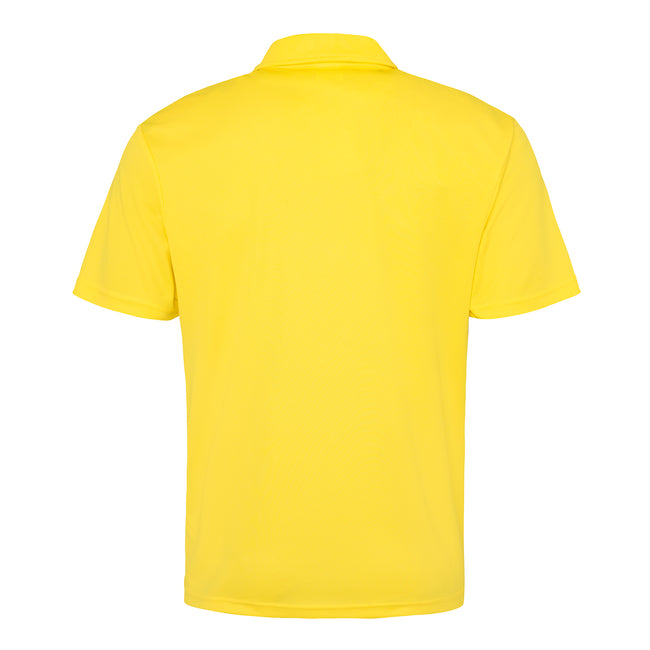 Electric Orange - Side - Just Cool Mens Plain Sports Polo Shirt