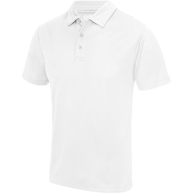 Olive - Front - Just Cool Mens Plain Sports Polo Shirt