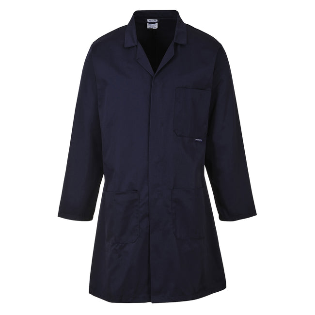 White - Front - Portwest Standard Workwear Lab Coat (Medical Health) (Pack of 2)
