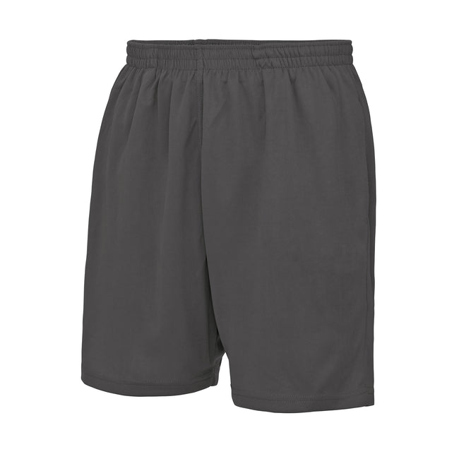 Charcoal - Front - Just Cool Mens Sports Shorts