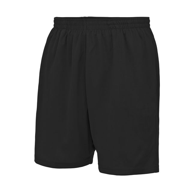 Jet Black - Front - Just Cool Mens Sports Shorts