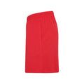 Fire Red - Side - Just Cool Mens Sports Shorts