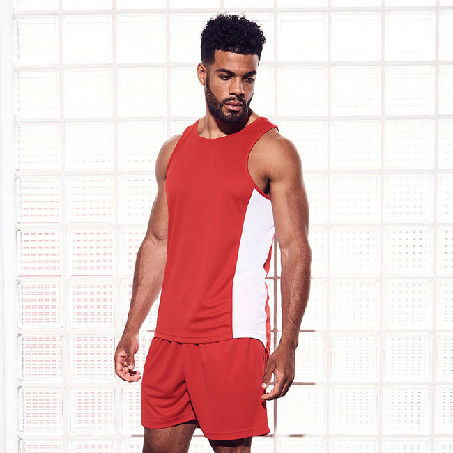 Fire Red - Pack Shot - Just Cool Mens Sports Shorts