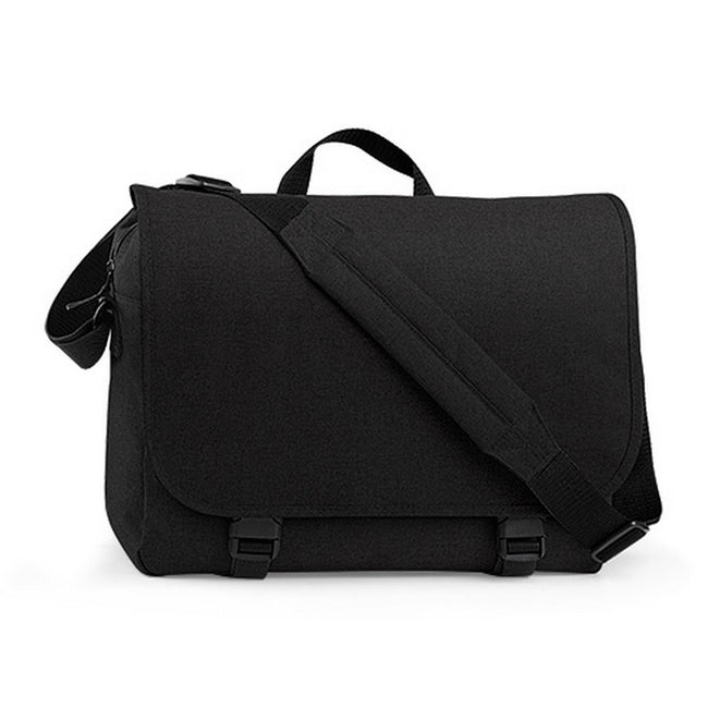 Black - Front - BagBase Two-tone Digital Messenger Bag (Up To 15.6inch Laptop Compartment) (Pack of 2)