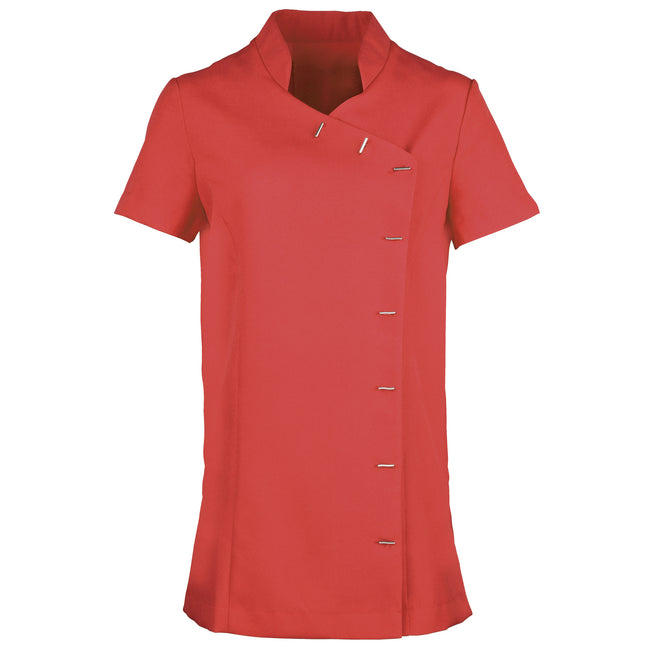 Strawberry Red - Front - Premier Womens-Ladies *Orchid* Tunic - Health Beauty & Spa - Workwear (Pack of 2)