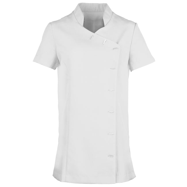 White - Front - Premier Womens-Ladies *Orchid* Tunic - Health Beauty & Spa - Workwear (Pack of 2)