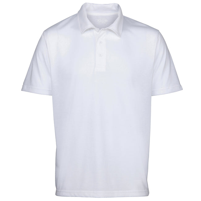 White - Front - Just Sub By AWDis Mens Sublimation Sports Polo Shirt