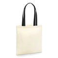 Natural-Black - Front - Westford Mill EarthAware Contrast Handle Organic Bag For Life