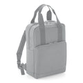 Light Gray - Front - BagBase Twin Handle Backpack