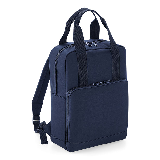 Navy Dusk - Front - BagBase Twin Handle Backpack