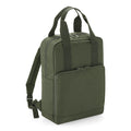 Olive Green - Front - BagBase Twin Handle Backpack