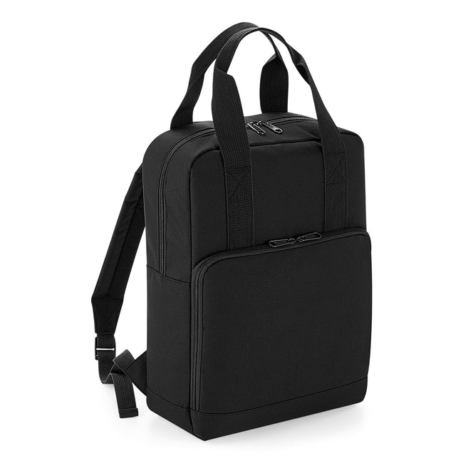 Black - Front - BagBase Twin Handle Backpack