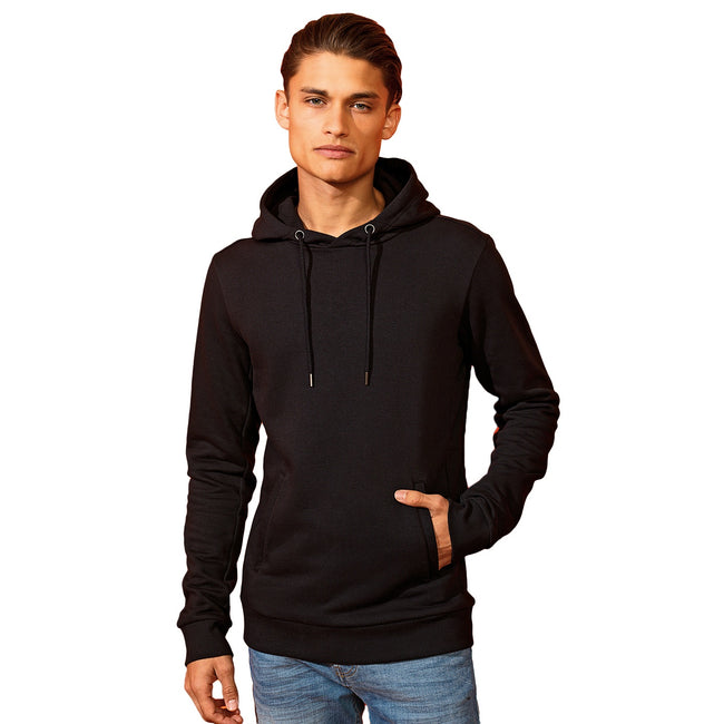 White - Front - Asquith & Fox Mens Organic Hoodie