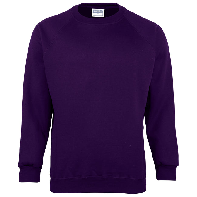 Sunflower - Front - Maddins Mens Colorsure Plain Crew Neck Sweatshirt