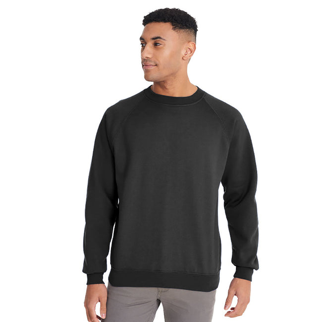 Bottle Green - Front - Maddins Mens Colorsure Plain Crew Neck Sweatshirt