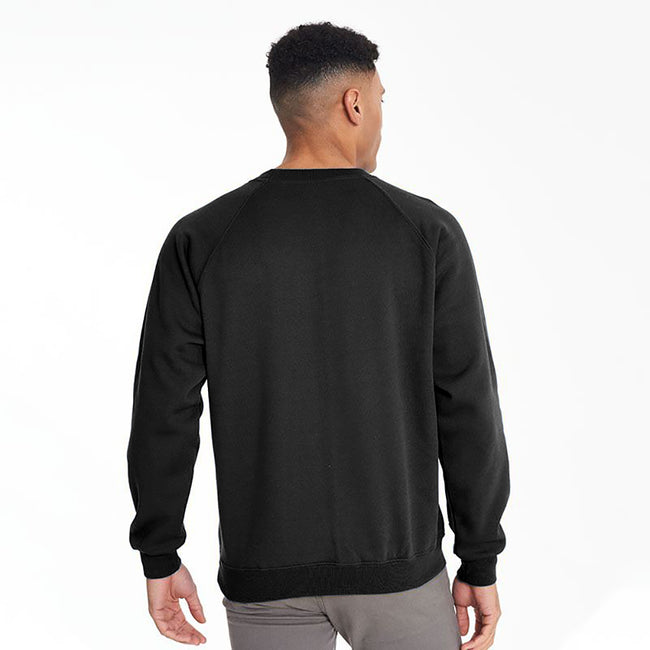 Burgundy - Front - Maddins Mens Colorsure Plain Crew Neck Sweatshirt