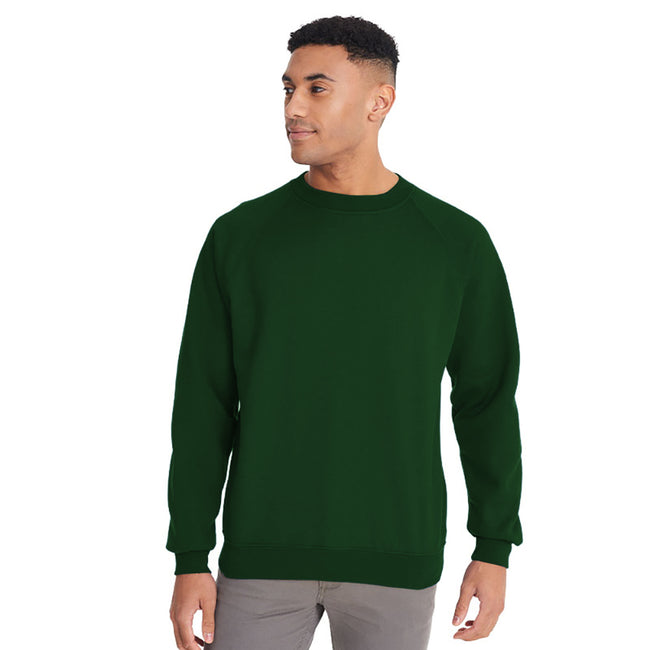 Emerald - Front - Maddins Mens Colorsure Plain Crew Neck Sweatshirt