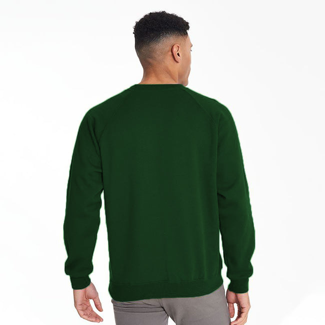 Navy - Front - Maddins Mens Colorsure Plain Crew Neck Sweatshirt