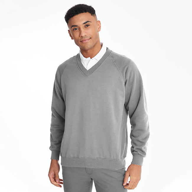 Oxford Grey - Back - Maddins Mens Colorsure V-Neck Sweatshirt