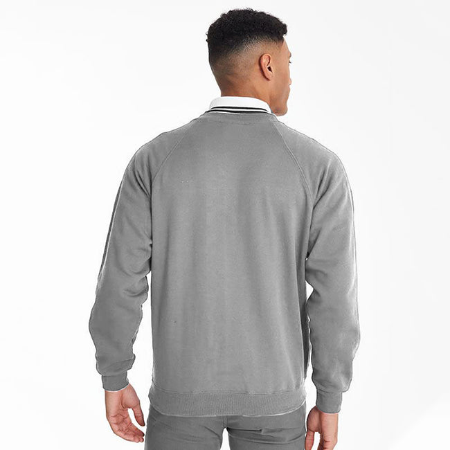 Oxford Grey - Side - Maddins Mens Colorsure V-Neck Sweatshirt