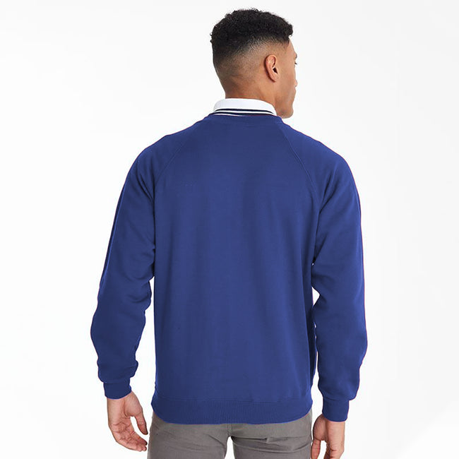 Royal - Side - Maddins Mens Colorsure V-Neck Sweatshirt