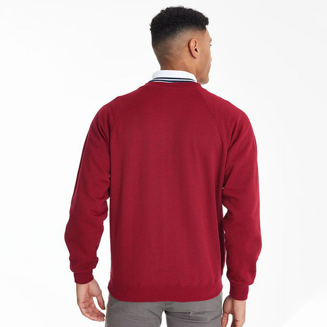Red - Lifestyle - Maddins Mens Colorsure V-Neck Sweatshirt