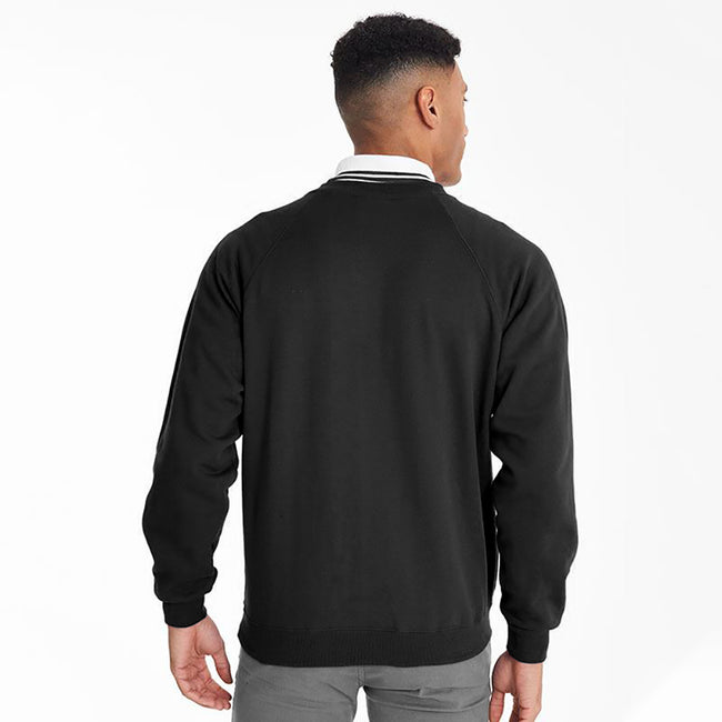 Black - Side - Maddins Mens Colorsure V-Neck Sweatshirt