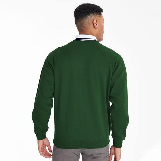 Bottle Green - Side - Maddins Mens Colorsure V-Neck Sweatshirt