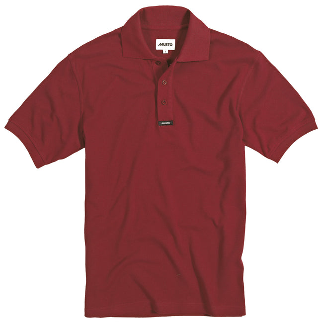 Navy - Front - Musto Mens Classic Pique Short Sleeve Polo Shirt