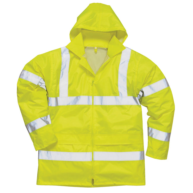 Yellow - Side - Portwest Hi-Vis Rain Jacket (H440) - Safetywear - Workwear