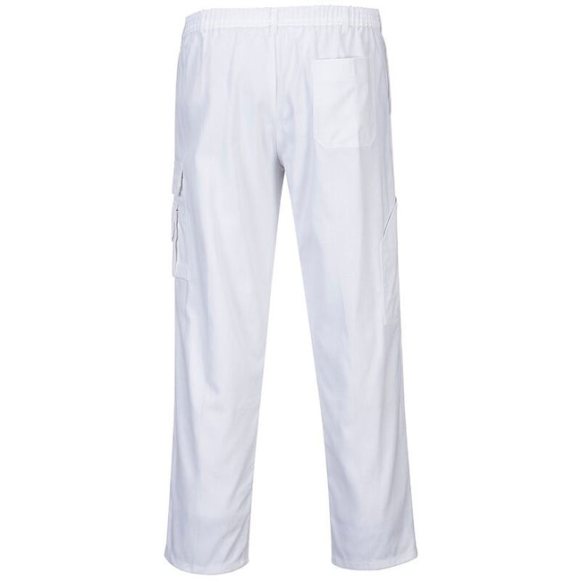 White - Back - Portwest Unisex Painters Trouser - Workwear