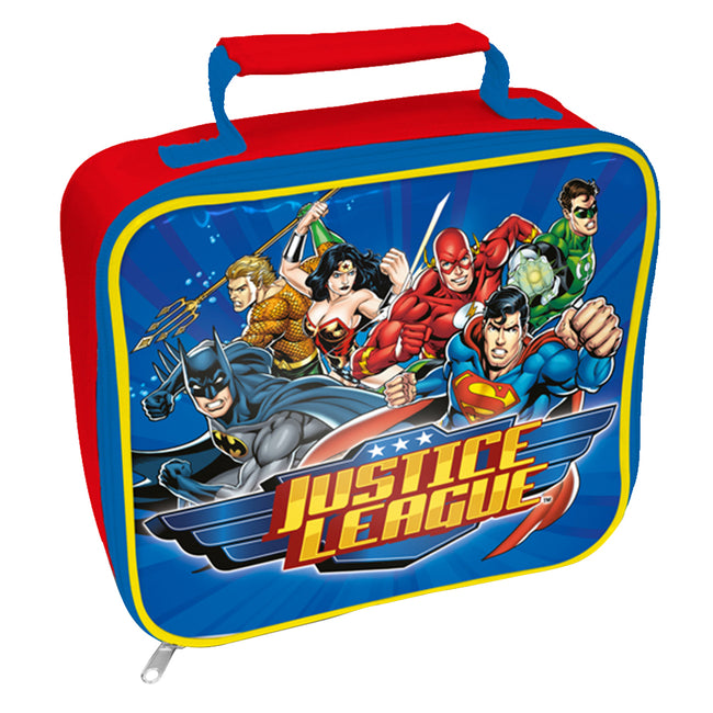 Blue - Front - Justice League Rectangle Lunch Bag