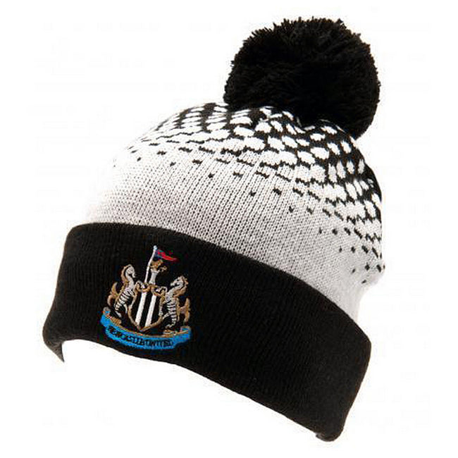 Multi-color - Front - Newcastle United Official Cuff Bobble Knitted Hat