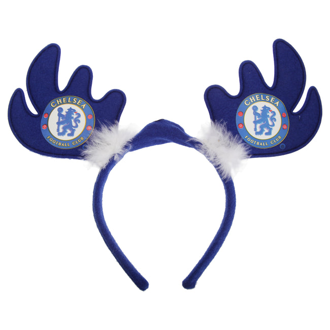Chelsea Fc Official Light Up Football Crest Reindeer Antlers Christmas Headband Discounts On Great Brands