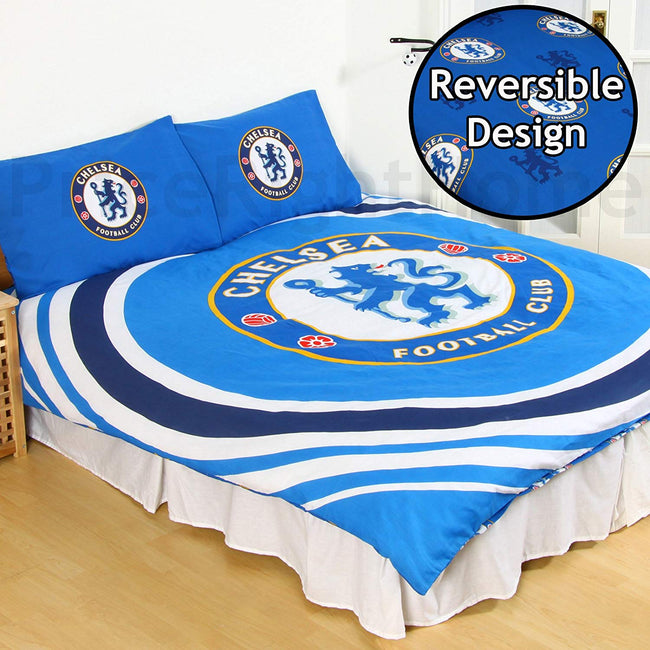 Blue - Front - Chelsea FC Reversible Pulse Duvet Set