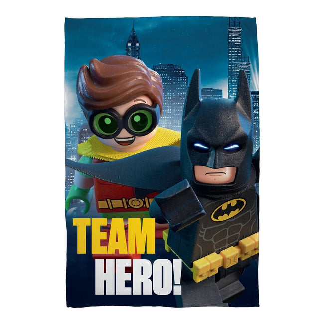Multicolored - Front - Lego Batman Movie Official Team Hero Fleece Blanket