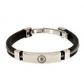 Silver - Front - Chelsea Silver Inlay Silicone Bracelet