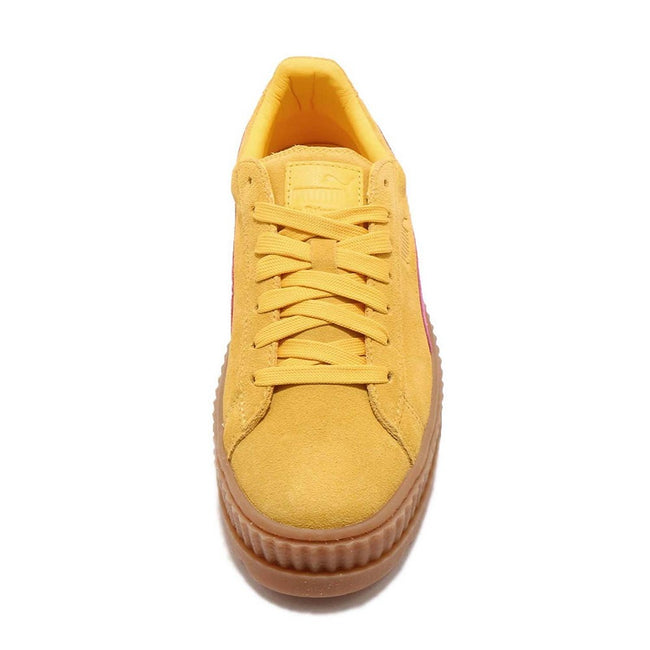 Lemon-Pink - Pack Shot - Puma X FENTY By Rihanna Womens-Ladies Cleated Suede Creepers